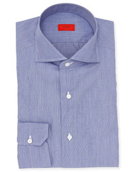 Isaia Chambray Cotton Dress Shirt