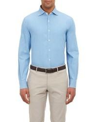 Isaia Chambray Shirt Blue