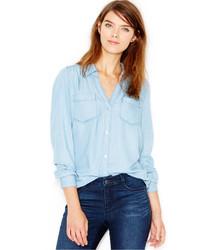 Maison Jules Chambray Shirt Created For Macys