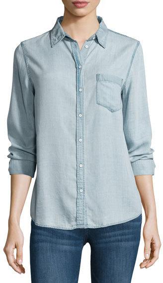 DL1961 Dl 1961 Premium Denim Mercer Spring Chambray Shirt Bleach