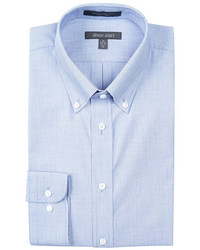 Nordstrom Rack Long Sleeve Trim Fit Chambray Dress Shirt