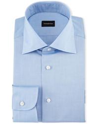 Solid cotton dress shirt chambray medium 594622