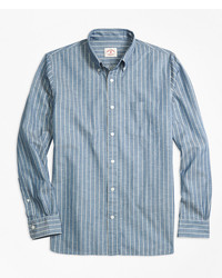 Brooks Brothers Striped Chambray Sport Shirt