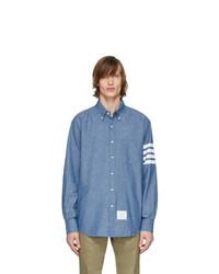 Thom Browne Blue Chambray 4 Bar Shirt