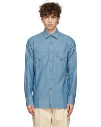 Doppiaa Blue Chambray Aariosto Shirt