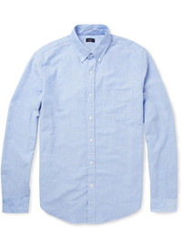 Button down collar cotton oxford shirt medium 124300