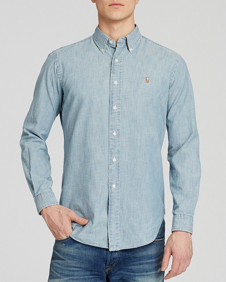 37fc6938 Polo Ralph Lauren Chambray Button Down Shirt Classic Fit, $89 ...