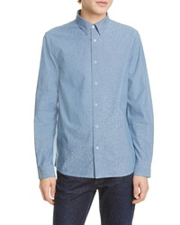 A.P.C. Chemise Hector Button Up Chambray Shirt