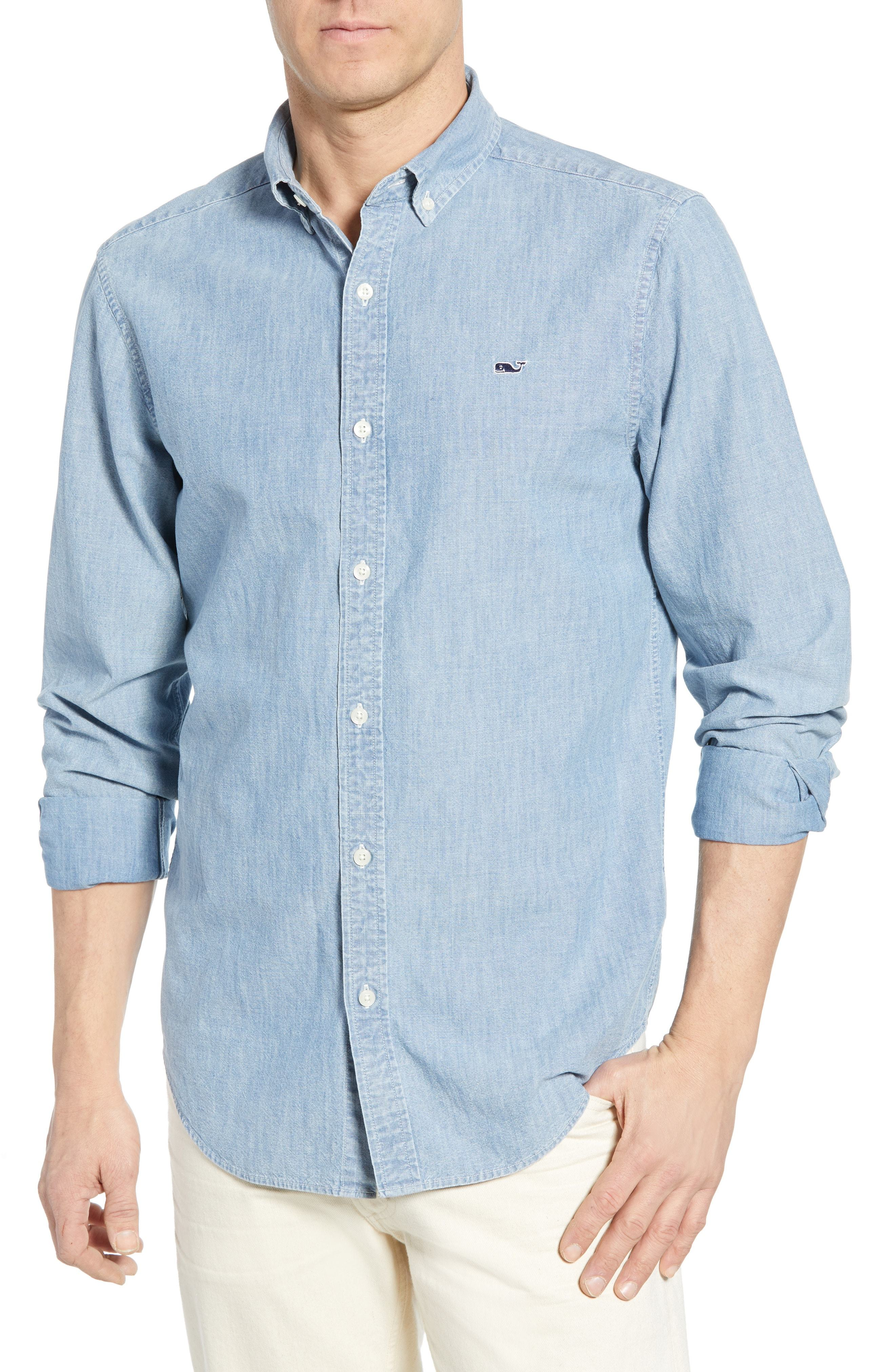 1d8f6af3 Classic Fit Chambray Sport Shirt