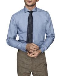 Reiss Draper Chambray Button Up Shirt
