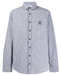 BOSS HUGO BOSS Embroidered Logo Button Down Shirt