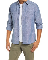 Fit Button Up Chambray Work Shirt