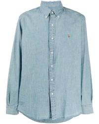 Polo Ralph Lauren Logo Embroidered Chambray Shirt