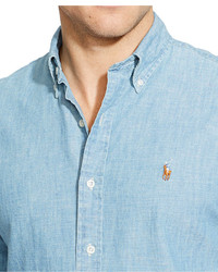 5deaa889 Polo Ralph Lauren Long Sleeve Classic Fit Chambray Shirt, $89 ...