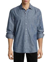R by peperill chambray sport shirt indigo medium 3718864