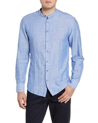 Stone Rose Regular Fit Band Collar Shirt