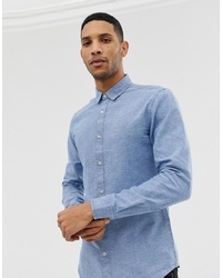 ONLY & SONS Slim Chambray Shirt