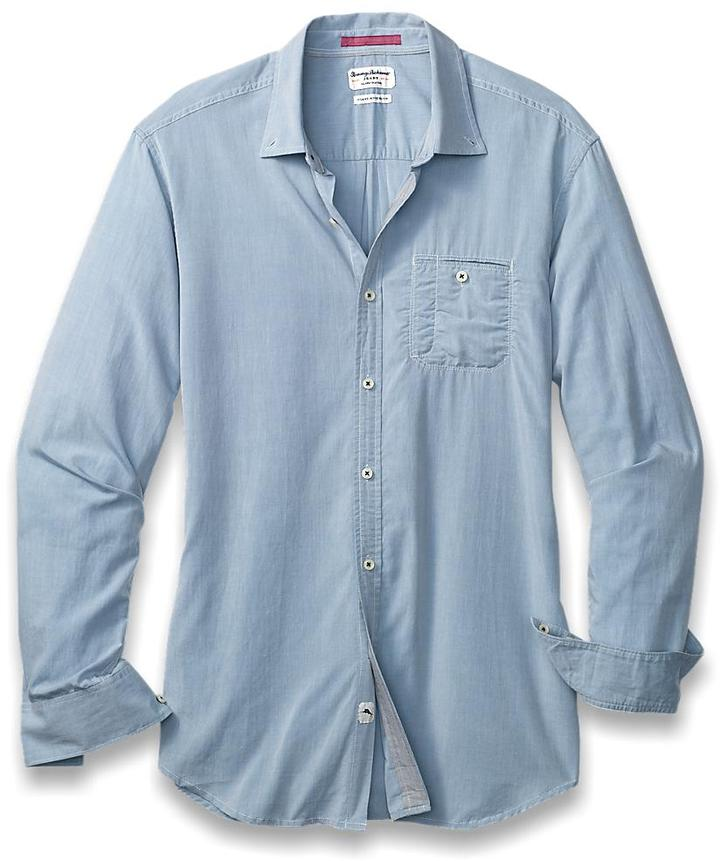 ... Long Sleeve Shirts Tommy Bahama Island Modern Fit Great Chambray Shirt  ... 0462d2a4a893