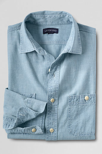 813f4ec5e6c ... Classic Traditional Fit Chambray Shirt Dark Wash4