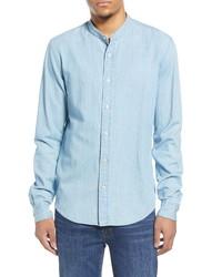 Scotch & Soda Trim Fit Band Collar Button Up Shirt
