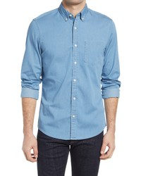Nordstrom Trim Fit Chambray Shirt