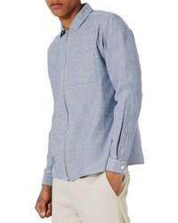Zip chambray overshirt medium 3746305