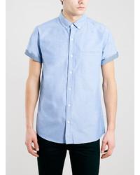Light Blue Chambray Short Sleeve Shirt