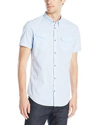 Calvin Klein Jeans Chambray Short Sleeve Button Down Shirt