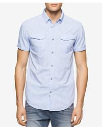 Calvin Klein Jeans Chambray Short Sleeve Shirt