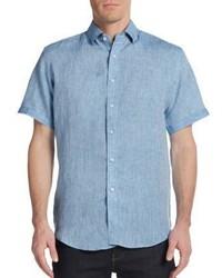 Slim Fit Short Sleeve Linen Sportshirt