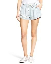 Light Blue Chambray Shorts