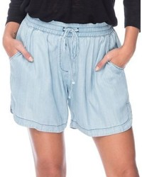 B Collection By Bobeau Chambray Drawstring Shorts