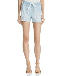 Bella Dahl Distressed Chambray Shorts
