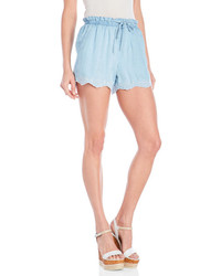 RD Style Embroidered Chambray Shorts