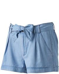 Juniors So Chambray Shortie Shorts