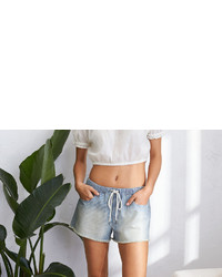aerie Rie Cutoff Chambray Short