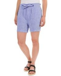 St Tropez West St Tropez Linen Shorts Drawstring Waist