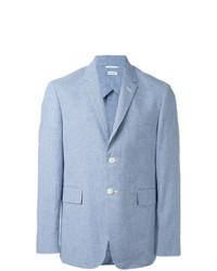 Thom Browne Micro Check Blazer Blue