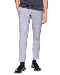 Topman Skinny Fit Plaid Trousers