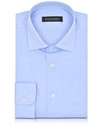 Light Blue Check Dress Shirt