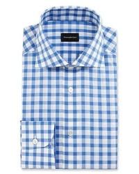 Bold check dress shirt whiteroyal blue medium 1149325