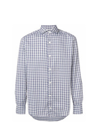 Eleventy Checked Button Down Shirt