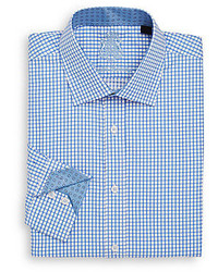 English Laundry Windowpane Checked Cotton Dress Shirt