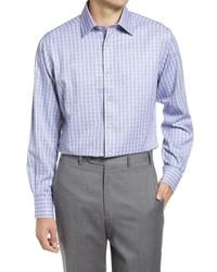 David Donahue Luxury Non  Fit Plaid Dress Shirt