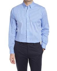 Alton Lane Mason Tailored Fit Check Stretch Button Up Shirt