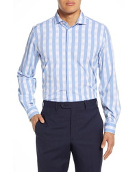 Report Collection Modern Fit Stretch Check Dress Shirt