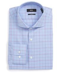 Sharp fit check dress shirt medium 5034243