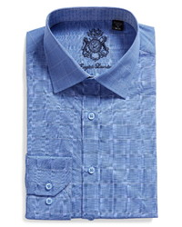 English Laundry Slim Fit Plaid Dress Shirt