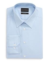 Emporio Armani Trim Fit Check Dress Shirt