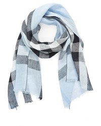 Burberry Exploded Check Linen Scarf